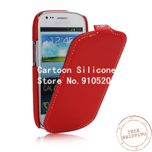 Samsung s3 mini leather Lychee Grain Leather Flip Style Case Galaxy S3 Mini I8190 - Iacebox Co.,Ltd (HK store)
