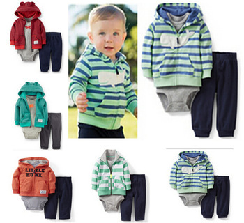 LL-006 Free shipping new arrival Carter boy clothing set kid full sleeve hoodies boys autumn sets 3&2 pieces baby suits retail(China (Mainland))