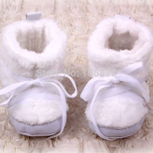 Winter Baby Boots White Snow Boots Cotton Fabric Baby Shoes Nonslip Soft Bebe First Walkers-5774(China (Mainland))