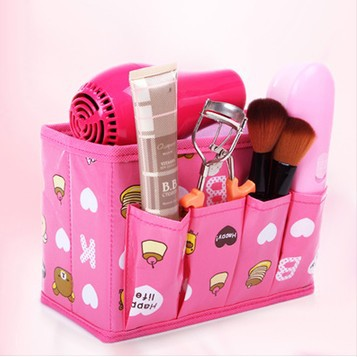 2015 fashional big Discount pink Toiletries Bag Cosmetics Makeup bag Flowers(China (Mainland))