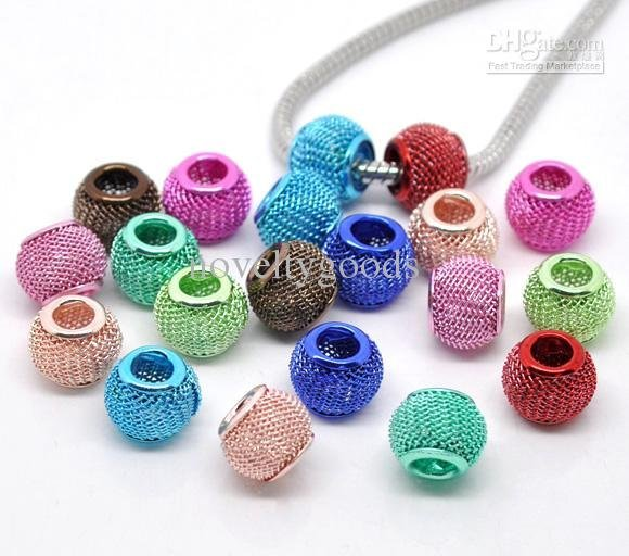 Mixed Mesh Spacer Beads Fit Basketball Wives earrings 16mm-30mm u pick 500pcs