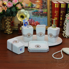 face ceramic sanitary Cups Wash suits Tumbler bathroom products free shipping(China (Mainland))