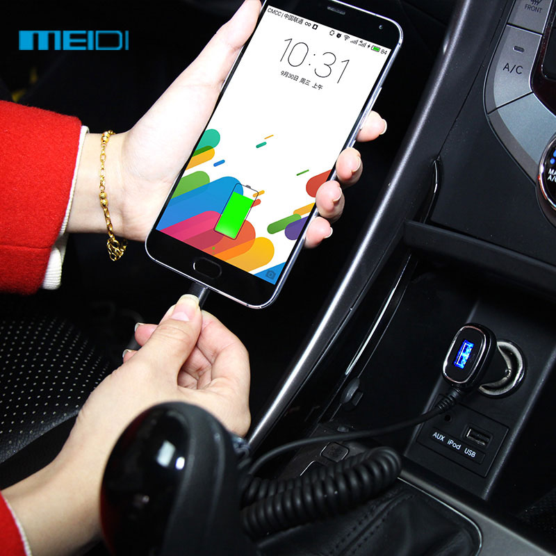 MEIDI Universal Car Charger 1-Port USB Car Charger + 3ft Car-Charger Cable for Apple iPhone and Android iPhone etc(China (Mainland))