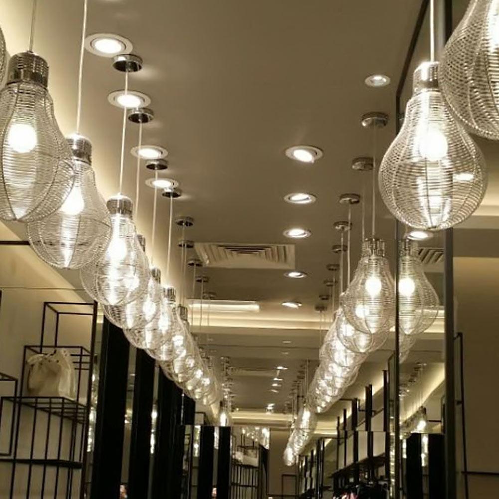 Modern Aluminum Pendant Lights Lamparas Electric Cord Hanging Lamp Pendant Lamp For Living room dinning room lamparas colgantes(China (Mainland))