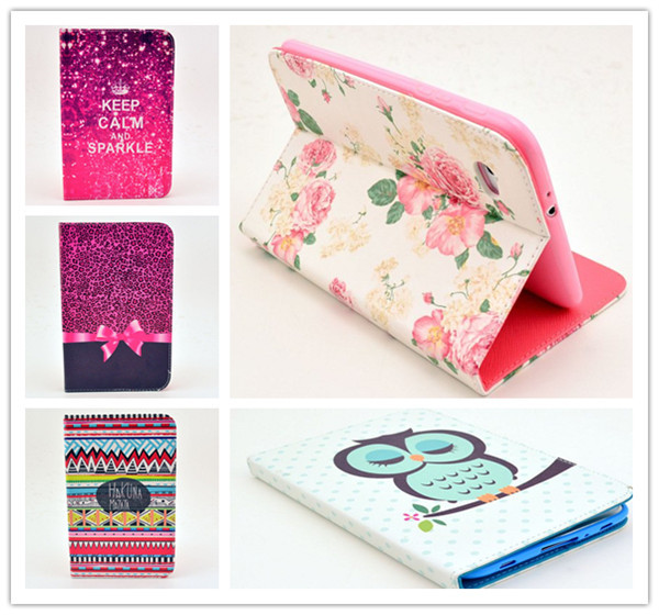 Гаджет  Cases For Samsung Galaxy Tab 2 7.0 Inch Flip PU Leather Stand Case P3100 P3110 Cute Flower Lovely Tablet PC Cover Free Shipping None Компьютер & сеть
