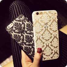 Phone case for Apple iphone 6 6S Plus 5 5s SE 6plus Cases Vintage Flower Pattern Fashion Luxury iphone6S phone Back Cover