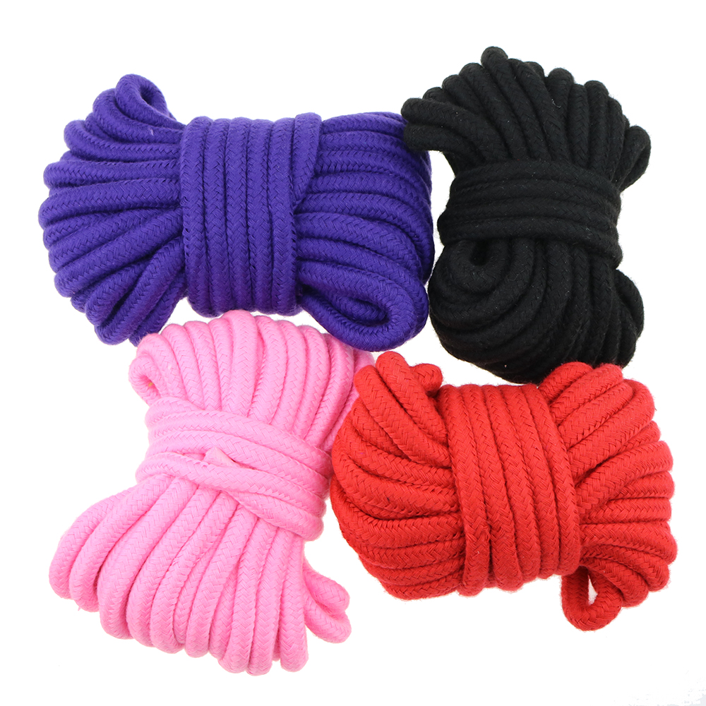 10Meters Long Thick Strong Rope Bondage BDSM Rope Fetish SM Kinky Adult Game Sex Toy Soft Cotton Harness Adult Flirting(China (Mainland))
