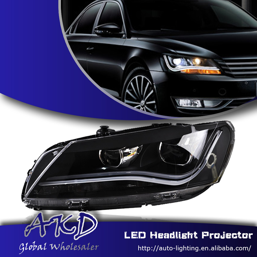 One-Stop Shopping Styling for 2012-2014 Passat B7 Headlights LED Headlight US DRL Lens Double Beam H7 HID Xenon Car Accessories(China (Mainland))