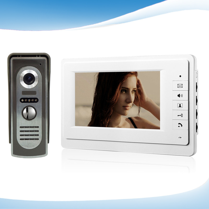 HighQuality Professional SmartHome 7 Inch TFT LCD Screen Video Intercom Phone,One to One Video Doorphone Kit Configuration D214a<br><br>Aliexpress