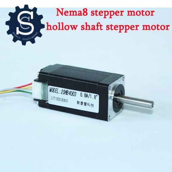 Nema8 20hb4003 2 4 nema 8 40 for Hollow shaft servo motor