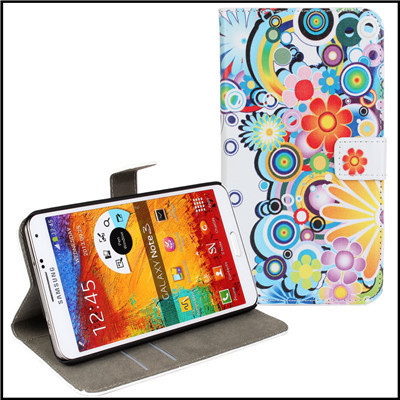 For Samsung Galaxy Note 3 Wallet Case Phone Accessory Leather Girl Lady Mobile Cover For Samsung Note 3 Cases Cover Coque Fundas(China (Mainland))