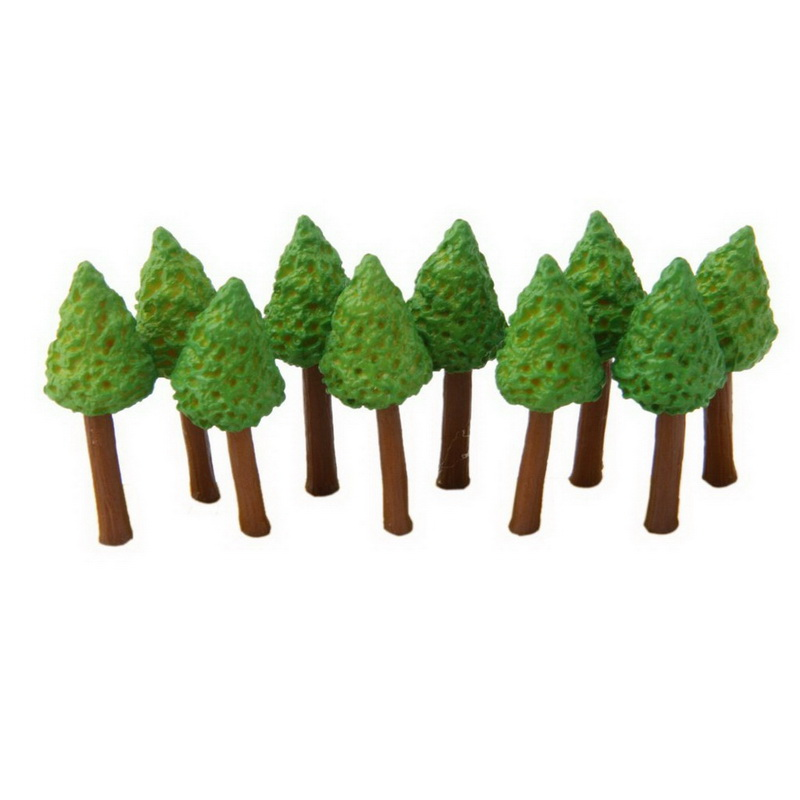 10pcs Toy Models Synthetic Resin Tree Moss Plants Micro Landscape Ornaments Unisex(China (Mainland))