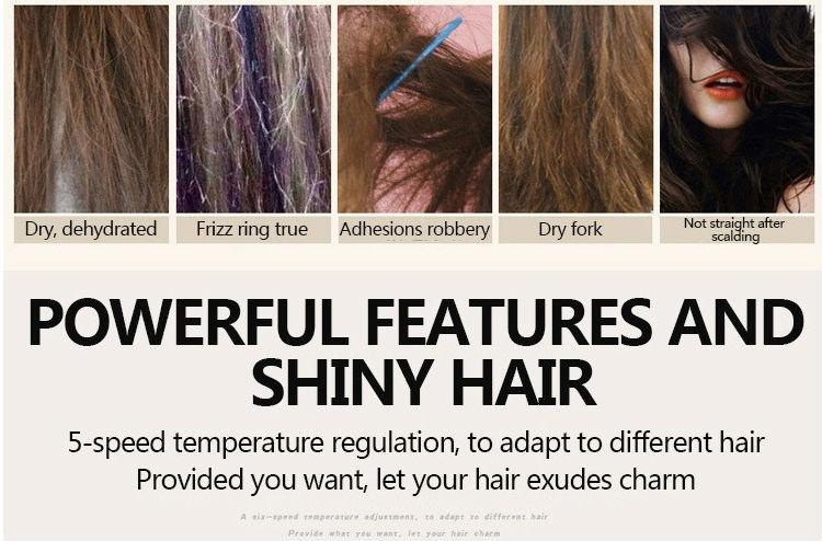Hair Straightener Comb Lcd Display hair straightening  Digital Electric Straightener Smoothing Brush Comb Fast