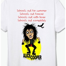 I never cry shock rock band alice cooper vintage t shirt man woman asia size