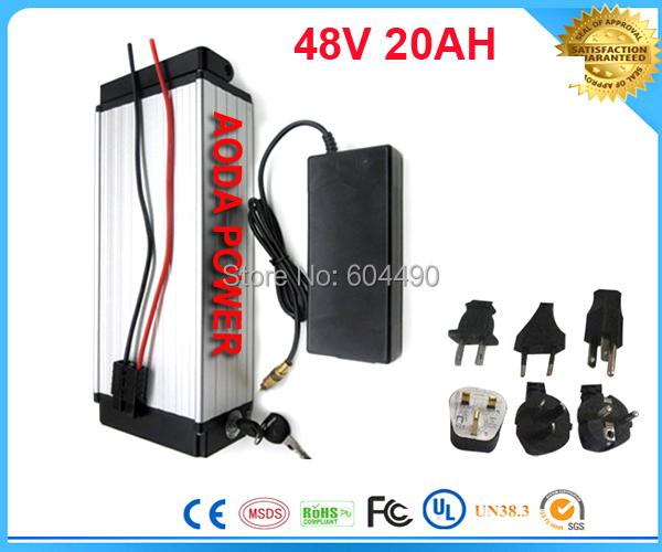 Батарея для электровелосипеда TNT, 1pcs/lot 48V 1000W ebike /20ah 48 30A , 54.6v 2