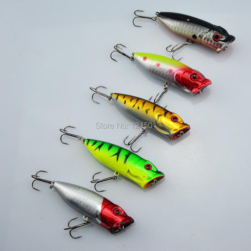 Promotion Lot 5pcs Colors Fishing Lures Crankbait Minnow Hooks Crank Baits 65mm 13g poper lure topwater