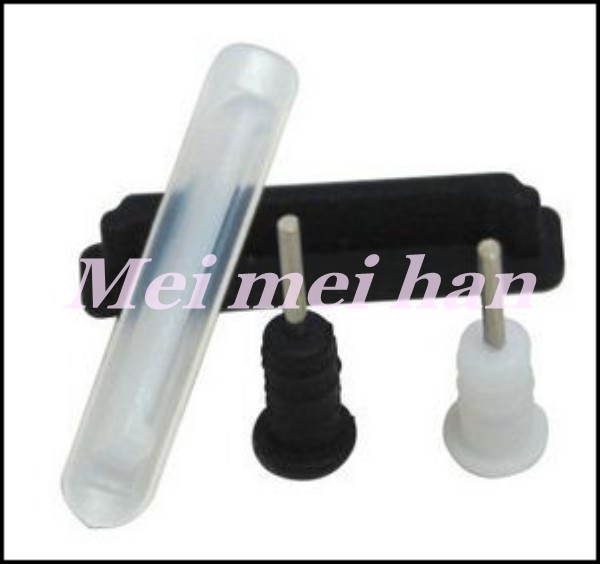 HOTSELL Rubber Dustproof Plug For iPhone IPAD 3 colors 2000pcs DHL EMS Free Shipping(China (Mainland))