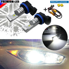 Buy 6000K Xenon White Powered Philips Luxen LED H11 H8 H9 H16, JP Bulbs Fog Lights Driving Lamps+ Error Free Canbus Decoders for $21.69 in AliExpress store