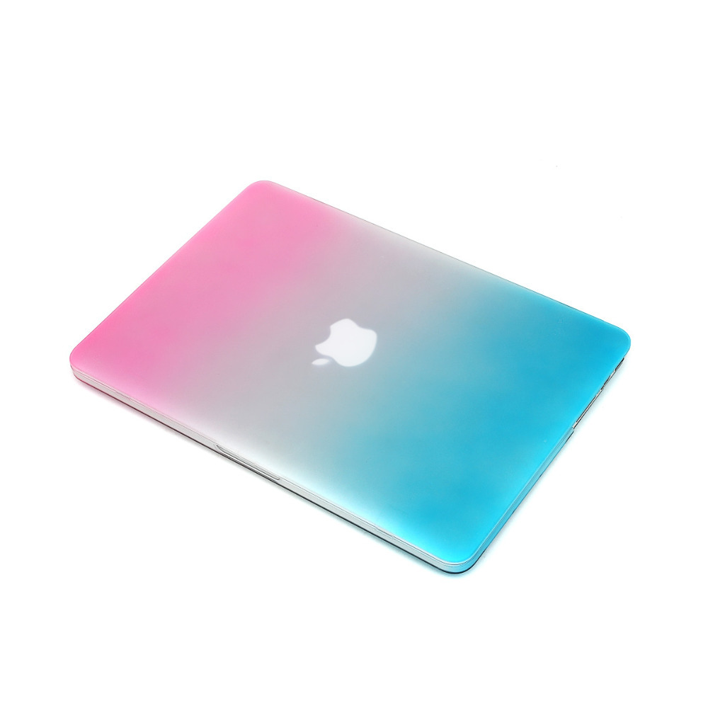 """2015 Newest Rainbow Rubberized Hard Laptop Case For Apple Macbook Air 11.6"""" Flat Tablet Case Computer Case+Gift Keyboard Cover(China (Mainland))"""