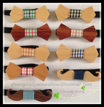 Здесь можно купить  NEW Hot Sale European Fashion Good Wood Bow Tie For Child size bowties Butterfly 10/lot free shipping  Одежда и аксессуары