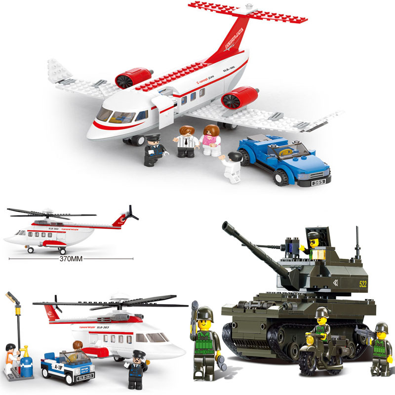 Educational Toys children Building Blocks DIY helicopter plane self-locking bricks Compatible Lego - zhichao shaw's store