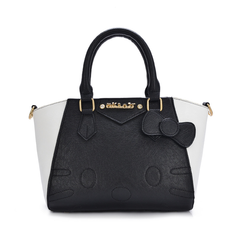 Beautiful Women Female Ladies Casual Bags Leather Hello Kitty Handbags Shoulder