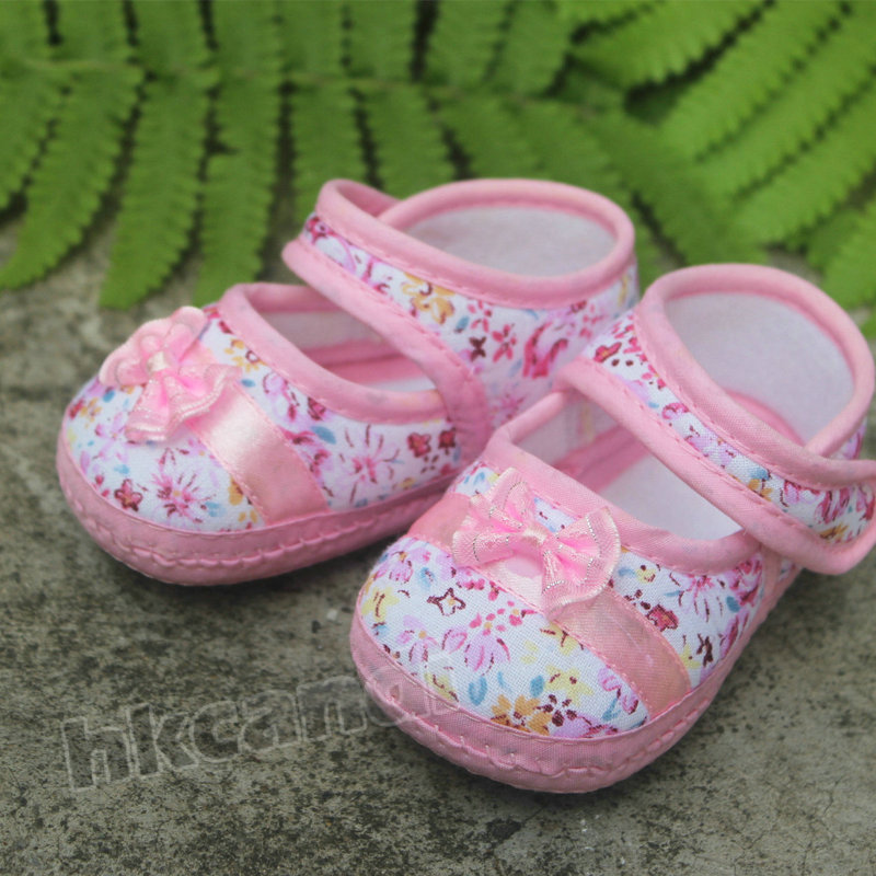Soft Sole Baby Shoes Cotton 3-14 Months Toddler shoes bowknot Girl infant Shoe