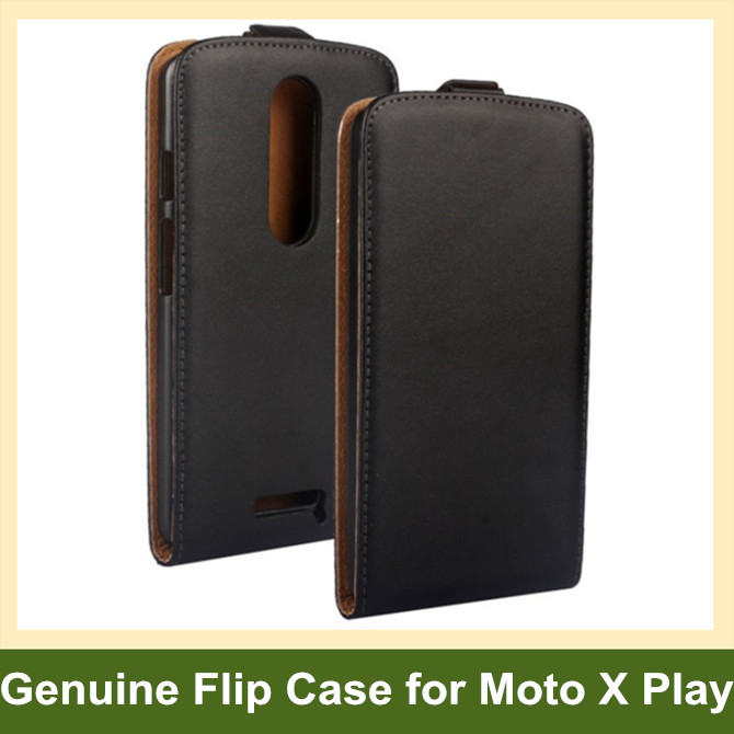 Newest Genuine Leather Flip Cover Case for Motorola MOTO X 3rd Gen./XT1097 with Magnetic Snap 10pcs/lot Free Shipping