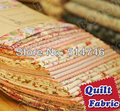 """12 Assorted Pre Cut Charm DIY Cotton Fabric Quilt Scrap Quaters """"Pink"""" Promotion + Free Shipping 17.7""""x19.7"""" 45cmx50cm(China (Mainland))"""