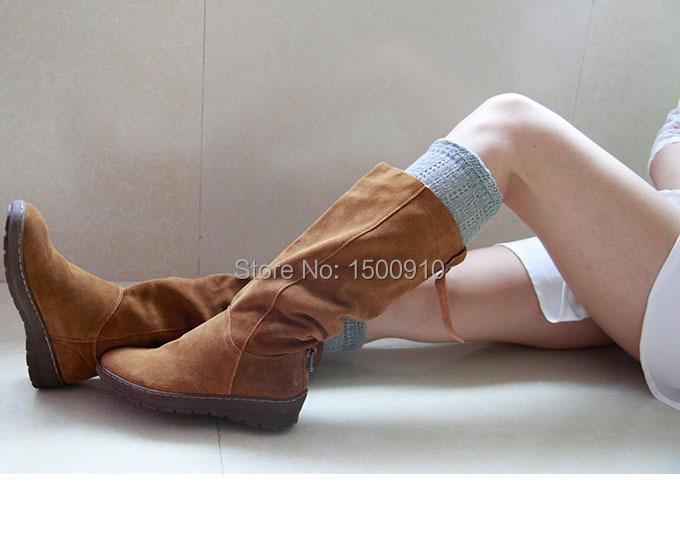 Light Gray Leg Warmers Womens Crochet Pattern Socks Ballet Cotton Patterned Boot Cuff Soft Socks 17121106(China (Mainland))