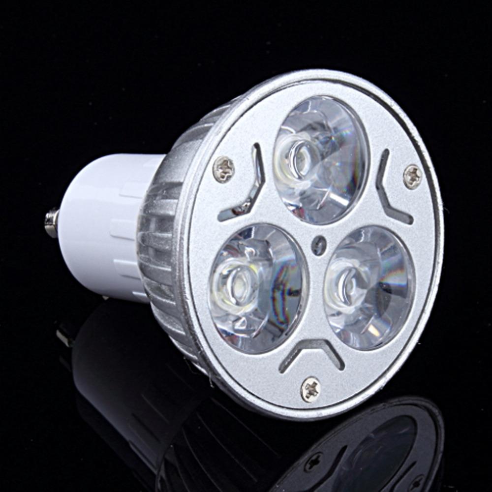 High Light Intensity Household Office Lighting Bulbs GU10 220V 3W LED Down Light Bulb Lamp Cool White Aluminum Spot Light(China (Mainland))