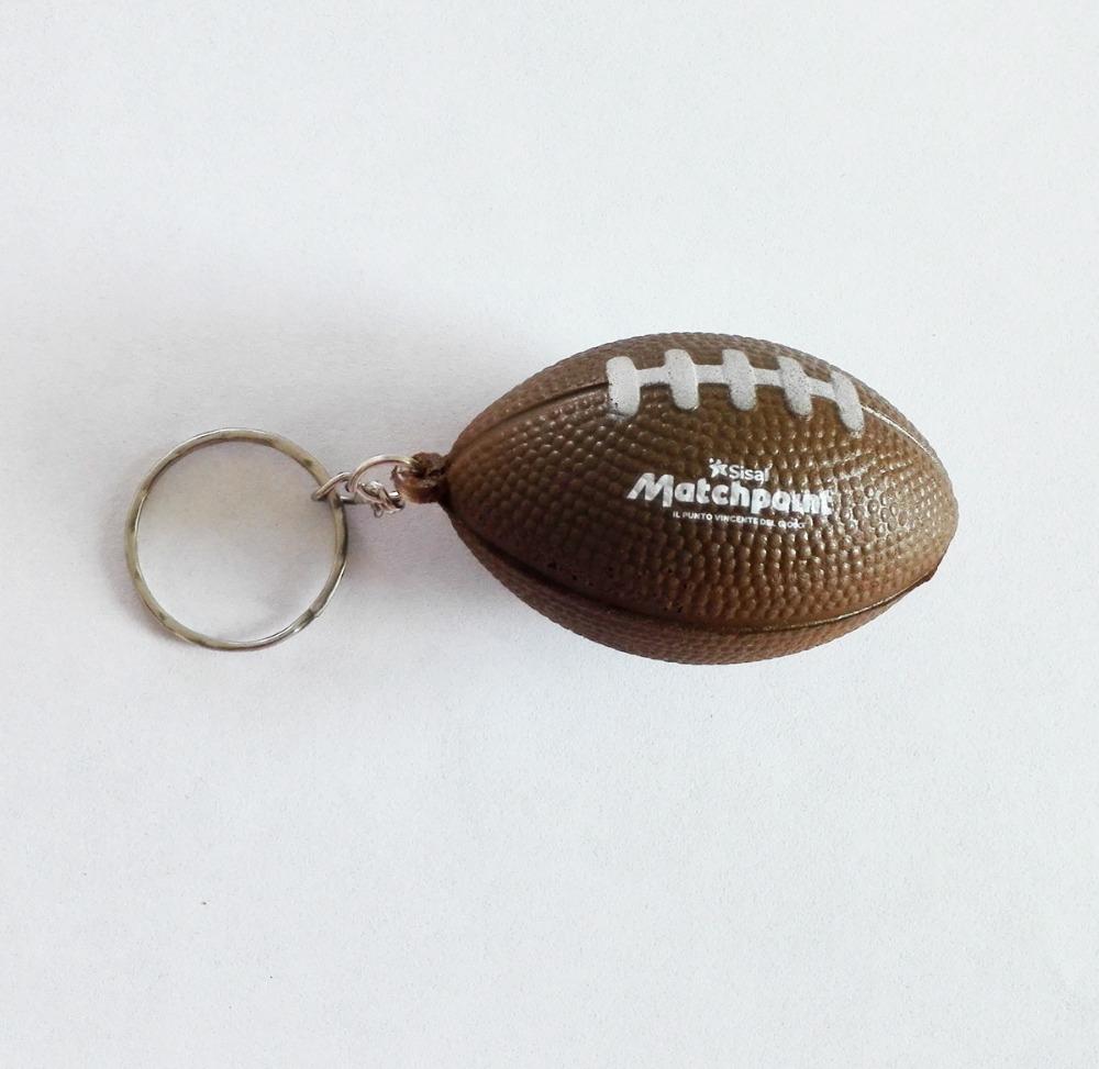 40mm custom OEM logo printed pu american football keychain,pu american football keyring with your logo 100pcs/lot(China (Mainland))