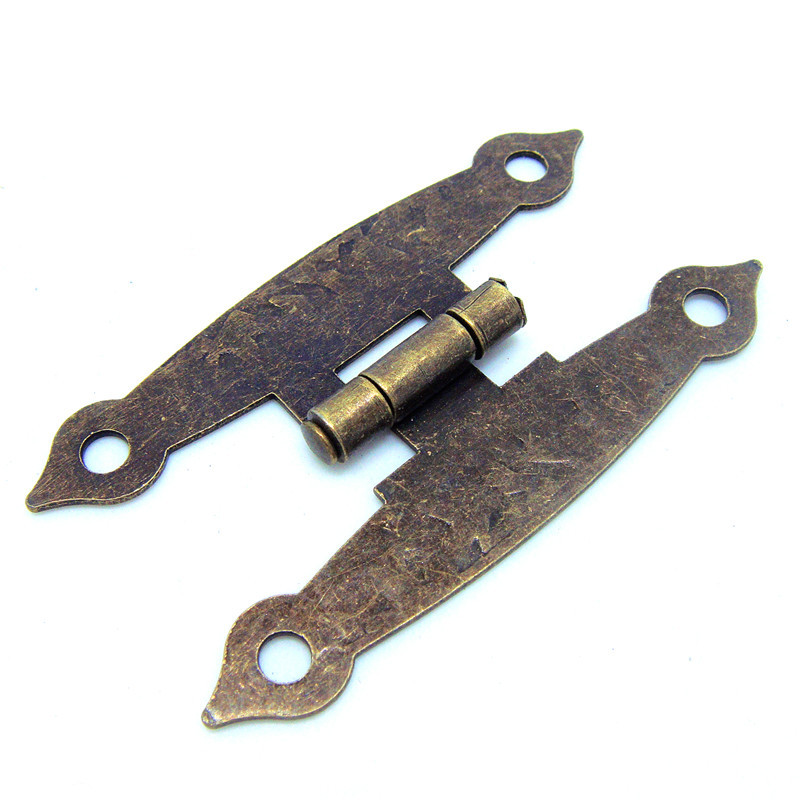 50pcs 65 * 34MM antique wooden box hinge metal hinge H-type 4-hole flat piece H-type hinge link(China (Mainland))