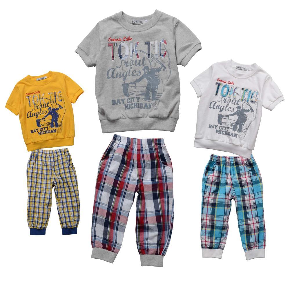 TOK TIC Brand kids clothes set 2 6 age boys cotton clothing set antumn new fashoin
