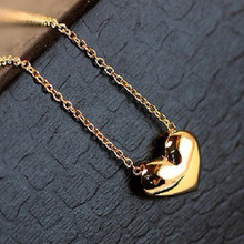 Gold Plated Heart Bib Statement Chain Pendant Necklace Jewelry Fashion Women Navy Elegant Gift Exquisite Attractive