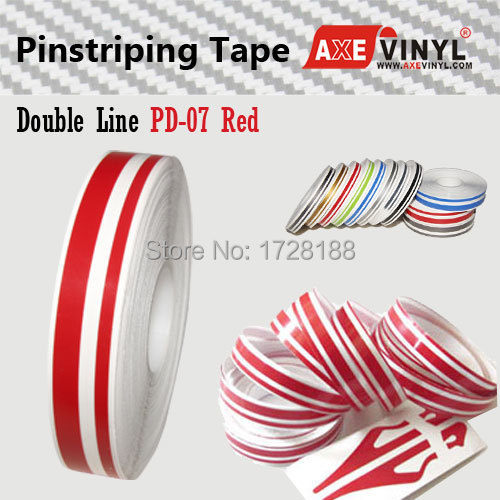 AXEVINYL Factory Direct Sale 8/16 inch Double Line Car Pin Stripe Tape for Car Decoration Free Shipping(China (Mainland))
