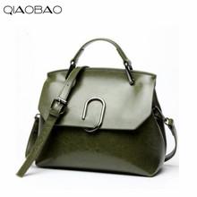 Buy QIAOBAO 2017 Cowhide Leather Bag Newest European American oil wax leather bag shoulder diagonal cross handbags for $39.64 in AliExpress store