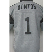 hot sale 1# Cam Newton High quality #59 Luke Kuechly 100% Stitched Logos Gray Gridiron Gray Limited Free shipping(China (Mainland))