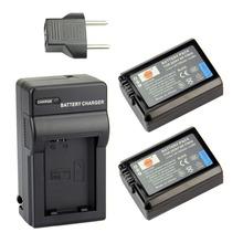 DSTE 2 Pcs 1950 mAh NP-FW50 Rechargeable Battery + Charger For Sony NEX-7 NEX-5N NEX-F3 SLT-A37 A7 NEX-5R NEX-6 NEX-3 NEX-3A
