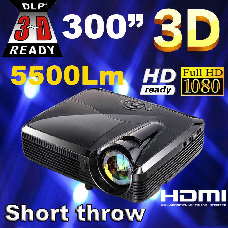 best full hd 5500 lumens xga dlp short throw holographic film projectorprojektorprojetorproyector for school education office overhead office lighting