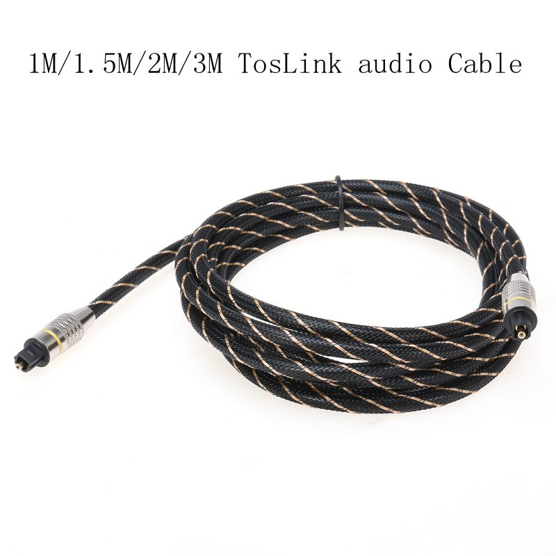 1M/1.5M/2M/3M Braided Digital Fiber Optical Audio SPDIF MD DVD TosLink Cable Lead Cord OD 6.0mm(China (Mainland))