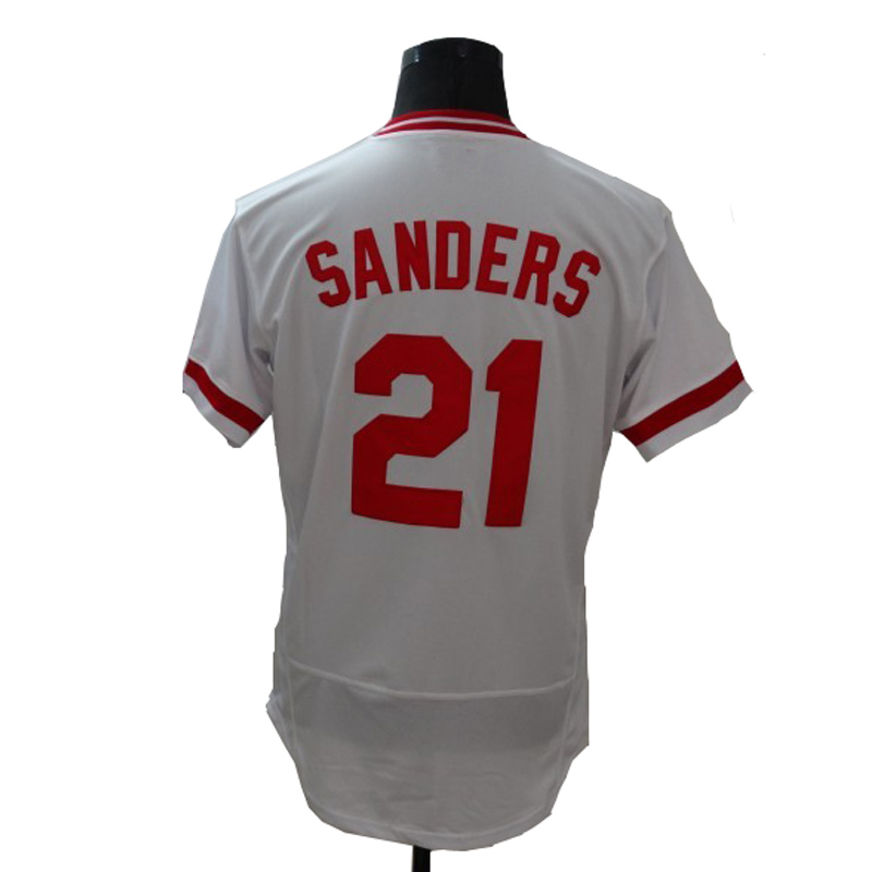 New Fabric Mens Flexbase Version21 Deion Sanders Jersey Color Red White Heat-sealed Tagless Jerseys(China (Mainland))