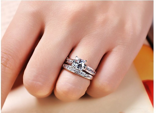 Stamp PT950 15 Carat Luxury Quality Sona Synthetic Diamond Engagement Ring Bf73338d