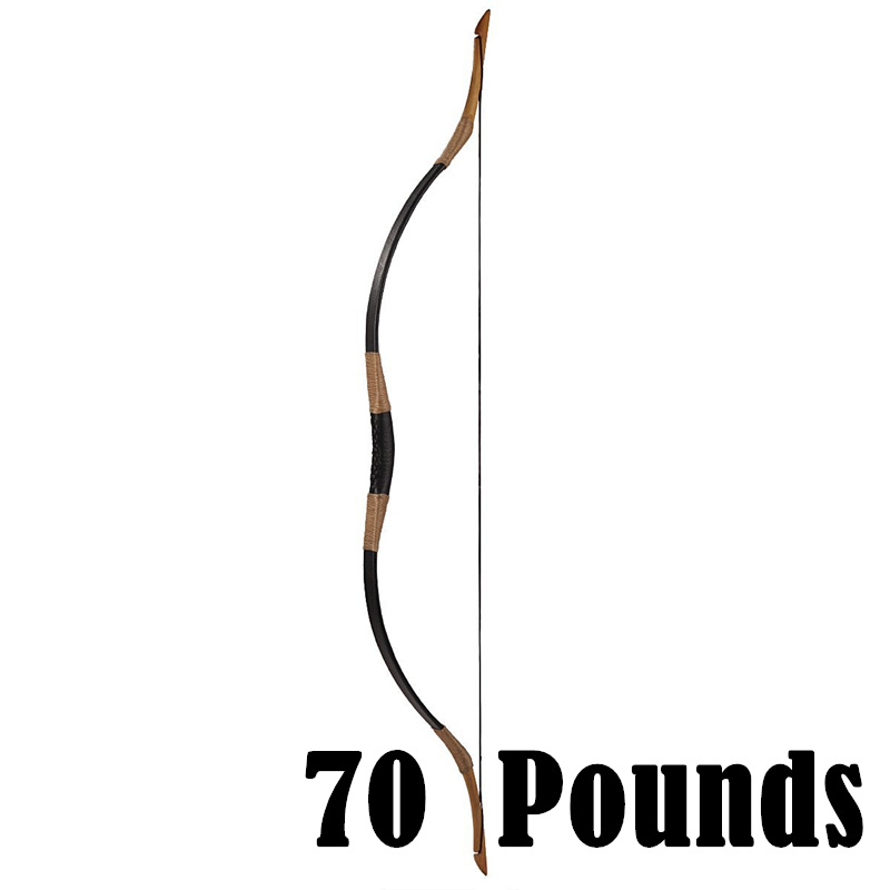 70 Pounds 143 cm Long Craftsmanship Handshock free Smooth Shooting Archery Bow for Hunting Arrow