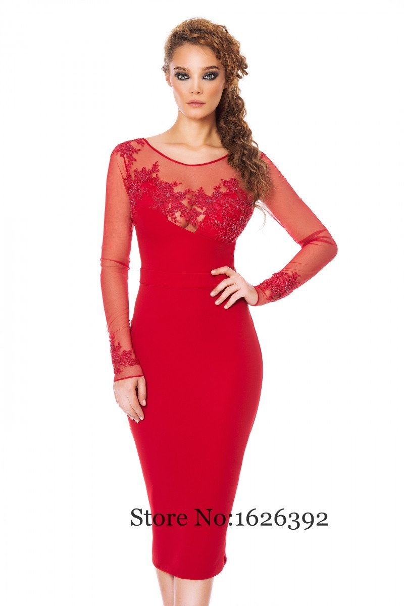 cap sleeve sheath sexy illusion women cocktail dresses