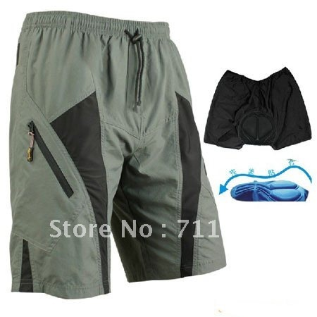 New MTB Loose Fit Cycling Shorts Padded Leisure Bike/Bicycle Pants M-2XL