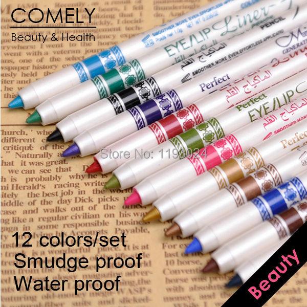 12 Colors Waterproof Eyeliner Pencil makeup eye liner pen cosmetics make delineador caneta maquiagem maquillaje - COMELY Online Shopping CO., LTD. store