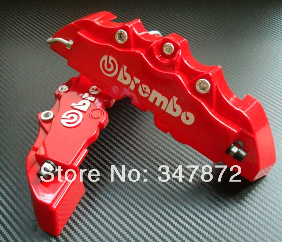 """3D Brembo logo ABS brake caliper cover racing disc brake covers front in red 24cm 9.5"""" 2pcs BCC008(China (Mainland))"""