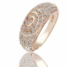 RG277 New Trendy Jewelry 18k Plated Mens Rose Gold Rings Gift Lead Free High Quality Free Shipping ( Yellow Gold,Rose Gold)(China (Mainland))