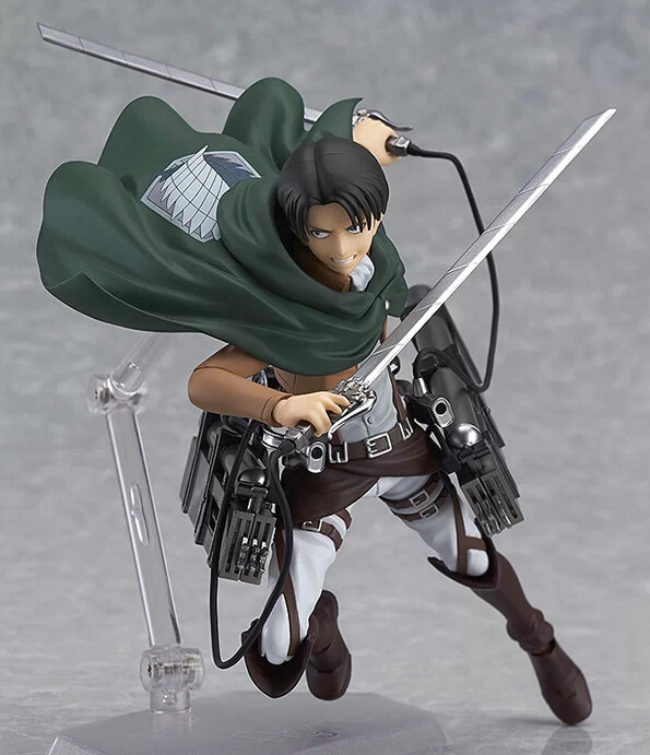 Anime Attack Titan Levi Ackerman Figma 213 PVC Action Figure Collection Model Toys Doll 15cm - Lucy store